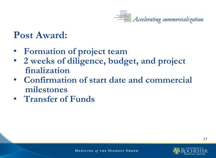 Post Award: