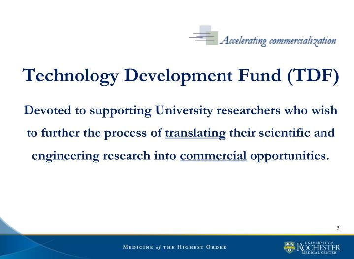 Technology Development Fund (TDF)