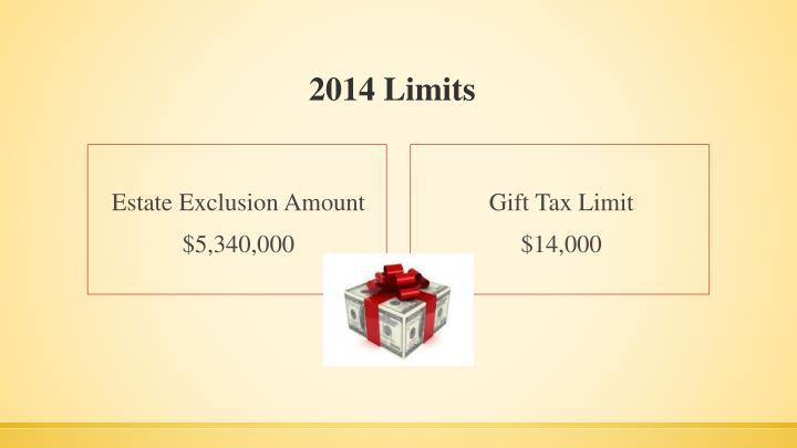 2014 Limits