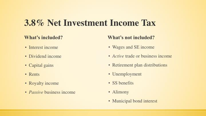 3.8% Net Investment Income Tax