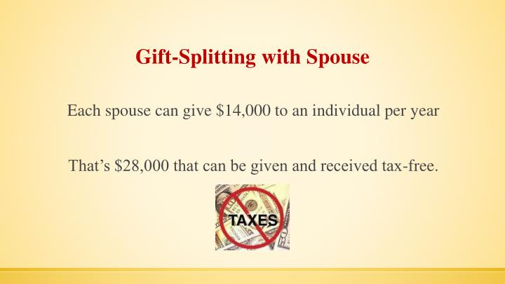 Gift-Splitting with Spouse