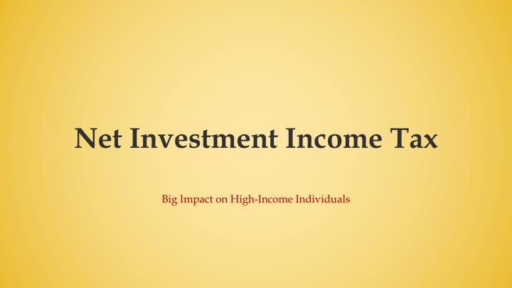 Net Investment Income Tax
