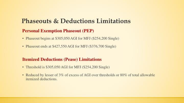Phaseouts