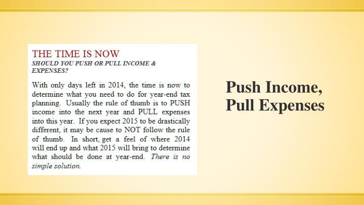 Push Income,