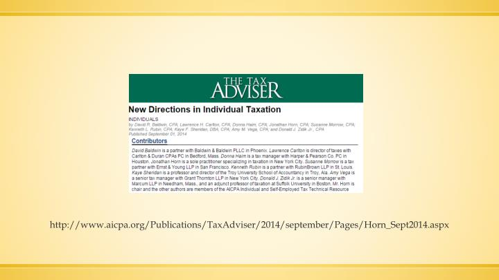 http://www.aicpa.org/Publications/TaxAdviser/2014/september/Pages/Horn_Sept2014.aspx