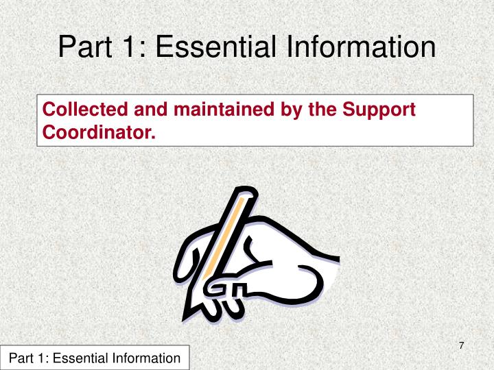 Part 1: Essential Information