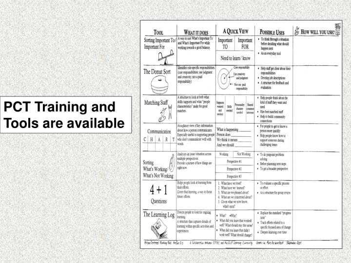 PCT Training and  Tools are available