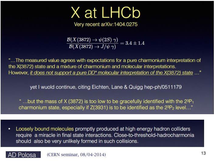 (CERN seminar, 08/04-2014)
