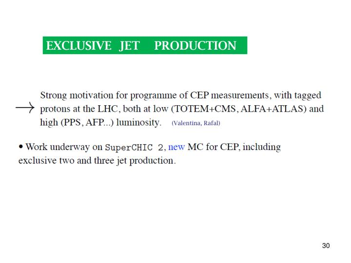 EXCLUSIVE  JET    PRODUCTION