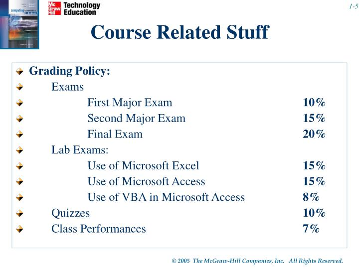 Course Related Stuff