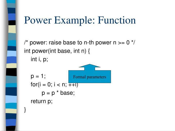 Power Example: Function