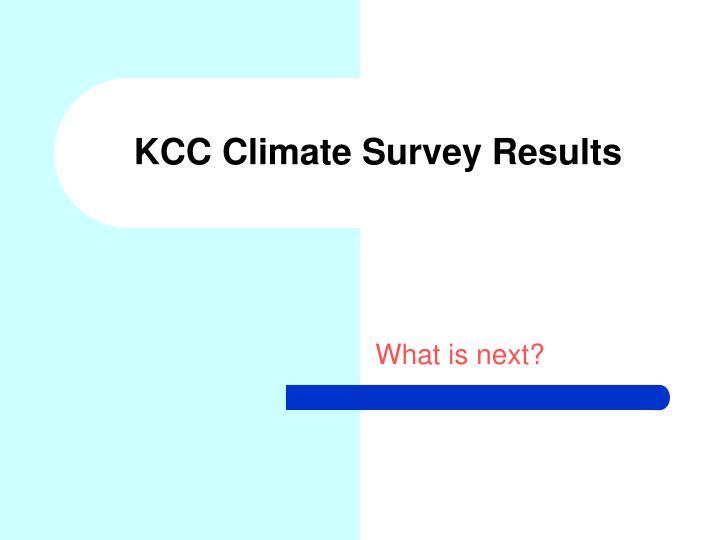 KCC Climate Survey Results