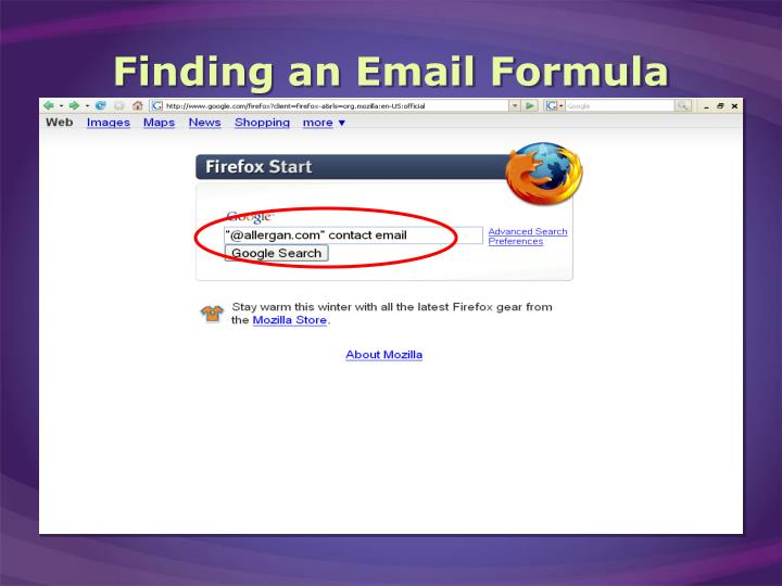 Finding an Email Formula