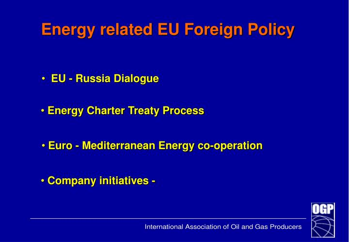 Energy related EU Foreign Policy
