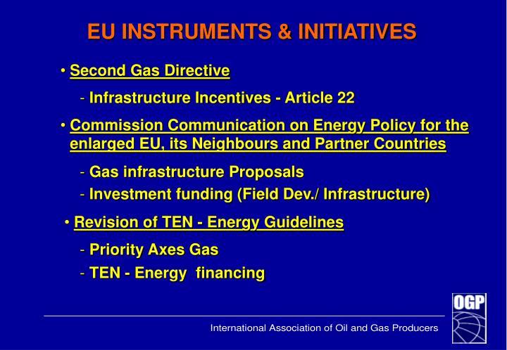 EU INSTRUMENTS & INITIATIVES