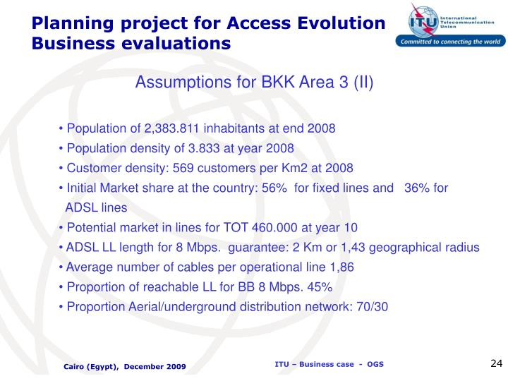 Planning project for Access Evolution Business evaluations