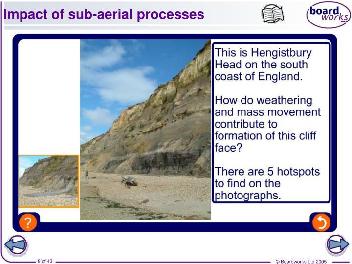 Impact of sub-aerial processes