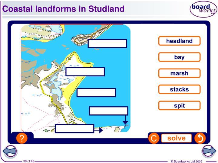 Coastal landforms in Studland