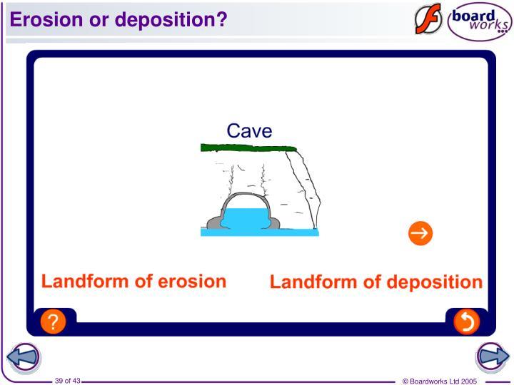 Erosion or deposition?