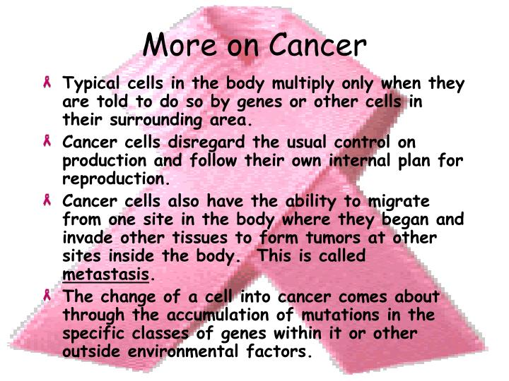 More on Cancer