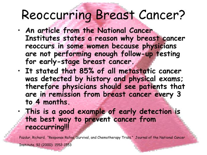 Reoccurring Breast Cancer?