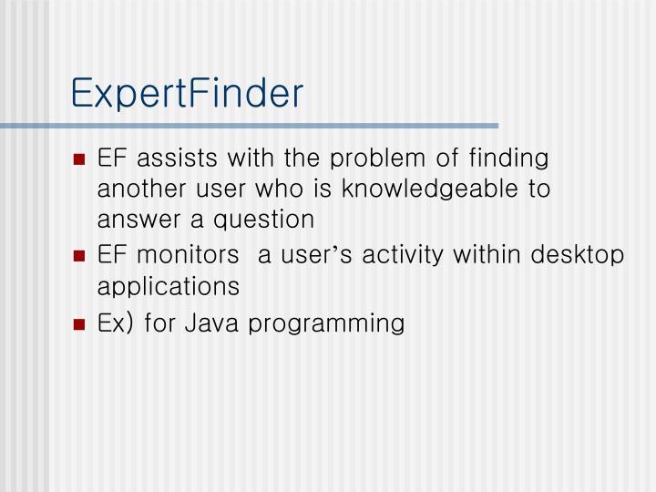 ExpertFinder
