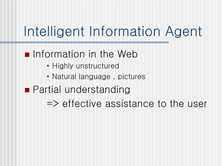 Intelligent information agent