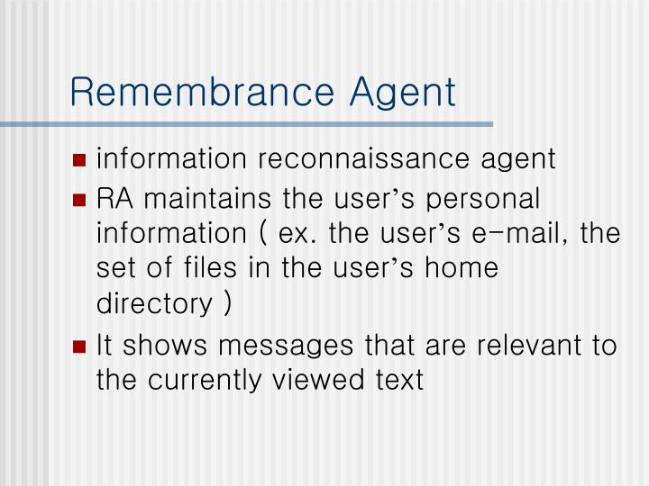 Remembrance Agent