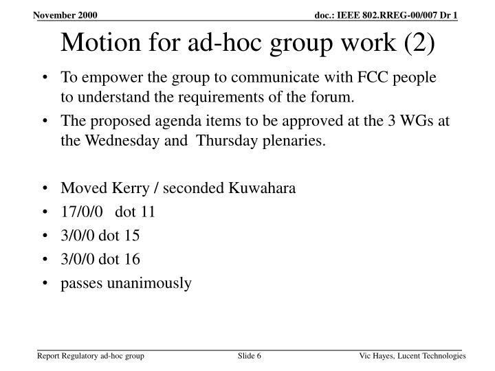 Motion for ad-hoc group work (2)