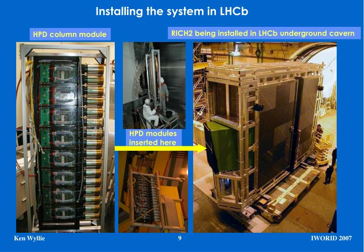 Installing the system in LHCb