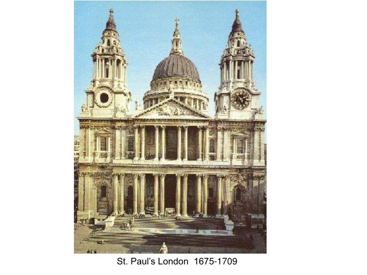 St. Paul's London  1675-1709
