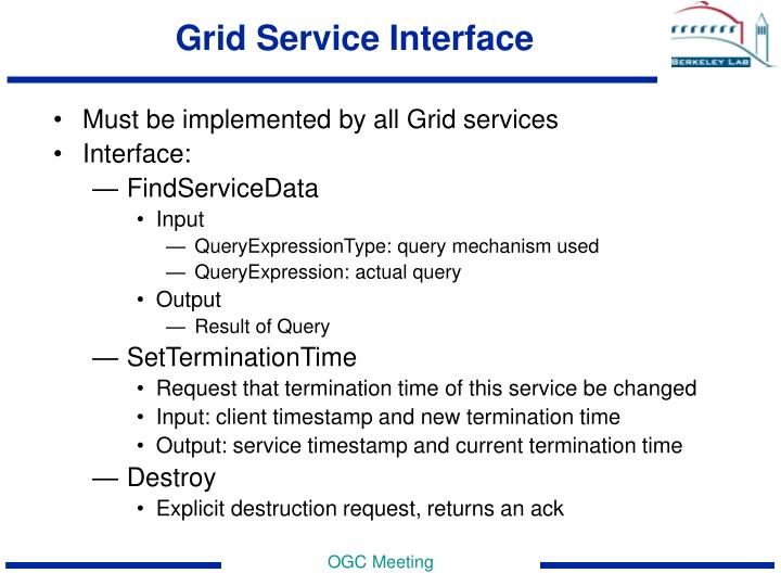 Grid Service Interface