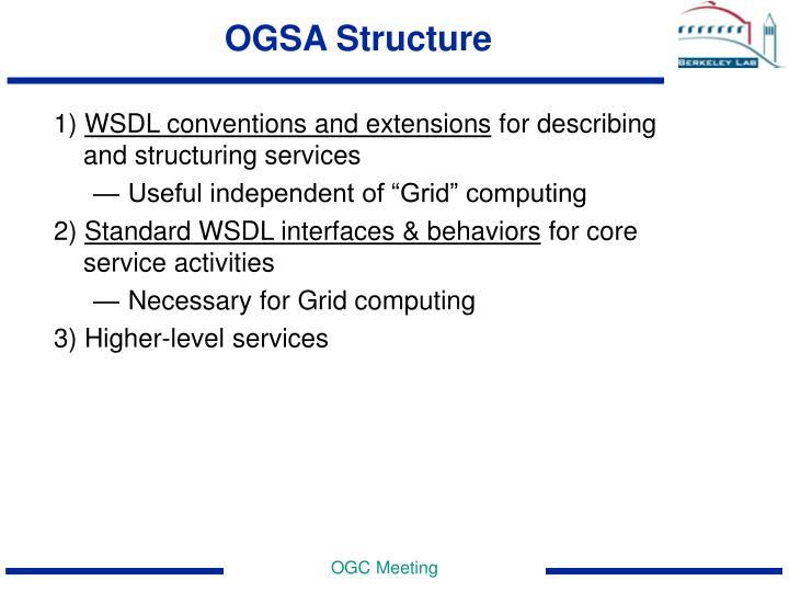 OGSA Structure