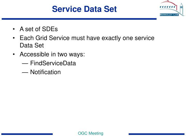 Service Data Set