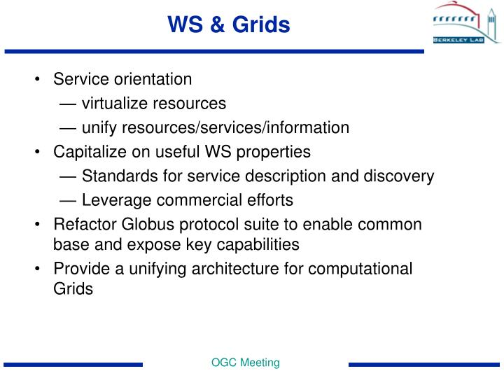 WS & Grids