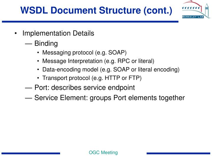 WSDL Document Structure (cont.)
