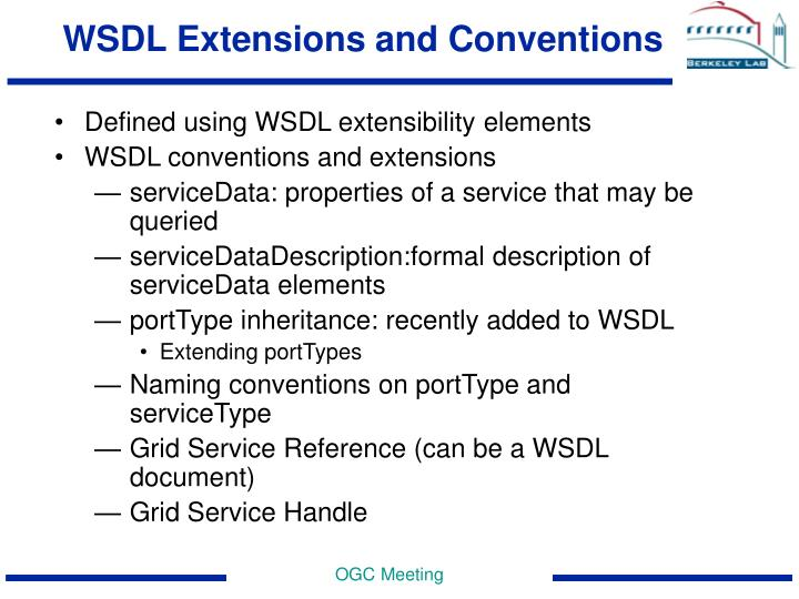 WSDL Extensions and Conventions