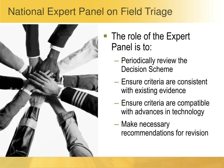 National Expert Panel on Field Triage