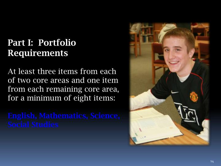 Part I:  Portfolio Requirements