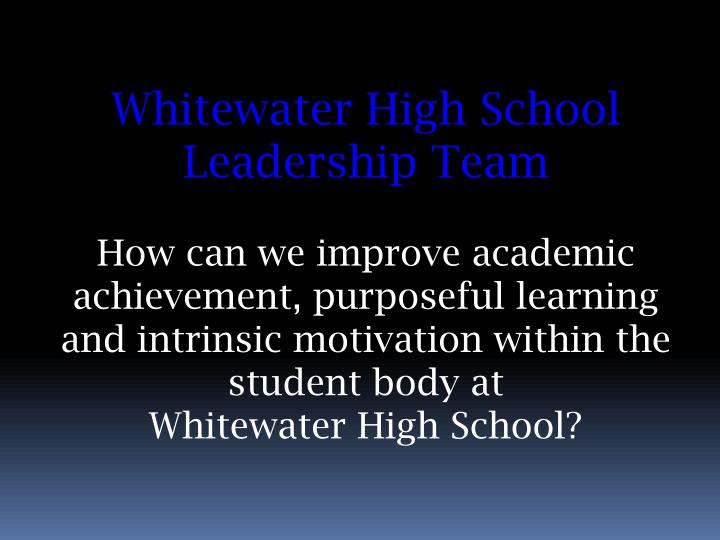 Whitewater High School