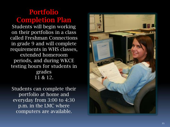 Portfolio Completion Plan