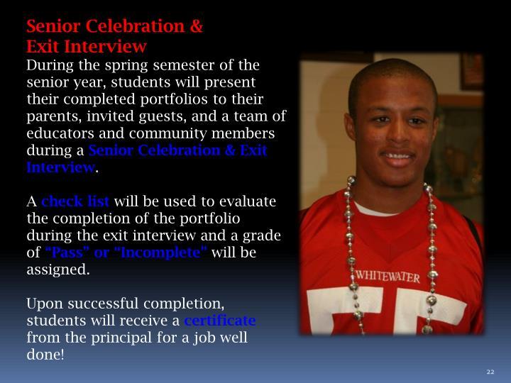 Senior Celebration &