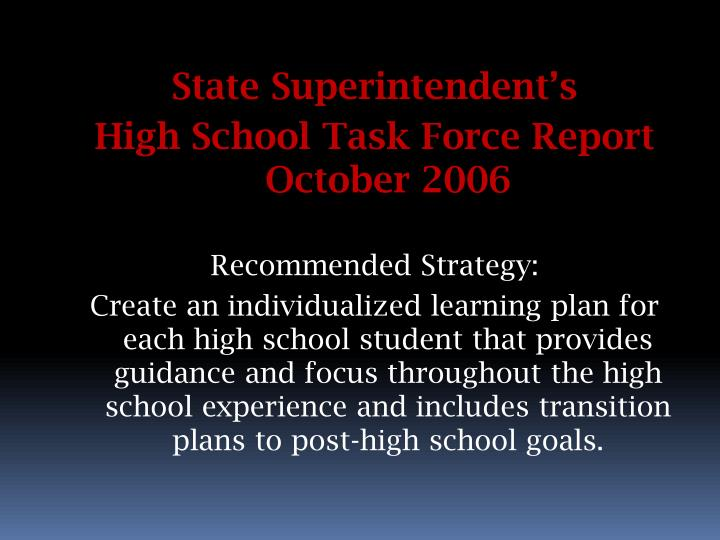 State Superintendent's