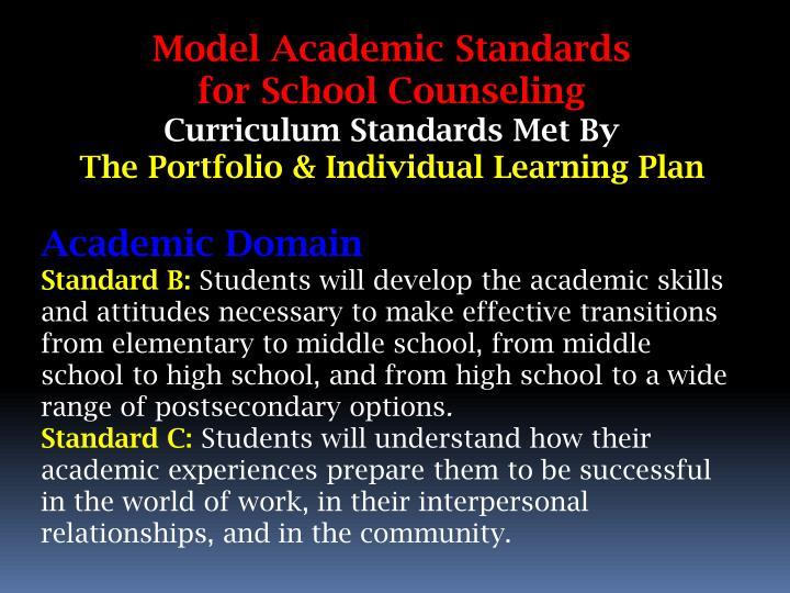 Model Academic Standards