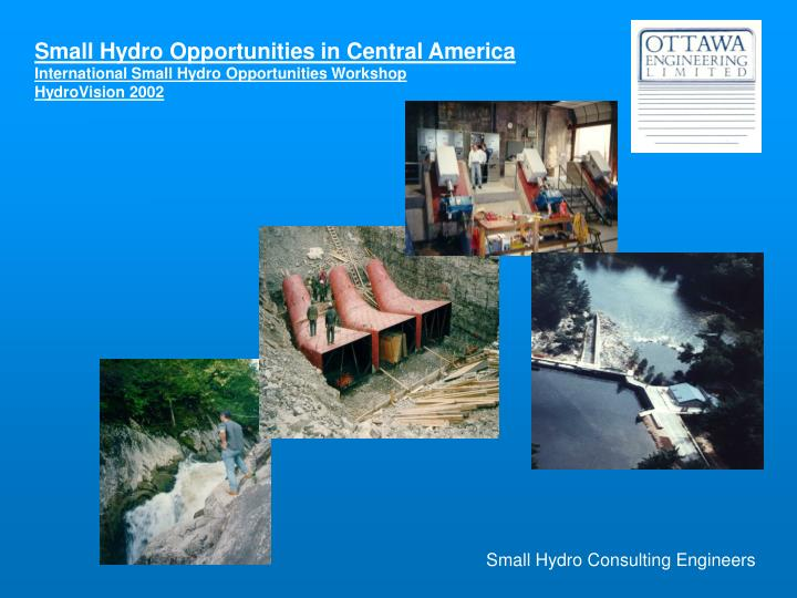 Small Hydro Consulting Engineers