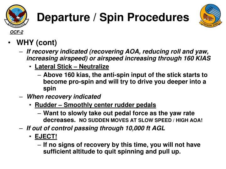 Departure / Spin Procedures