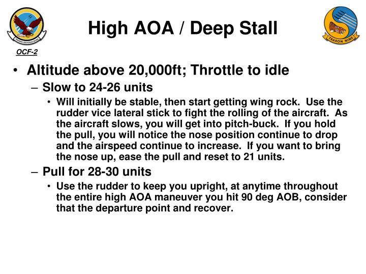 High AOA / Deep Stall