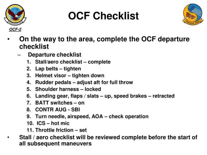 OCF Checklist