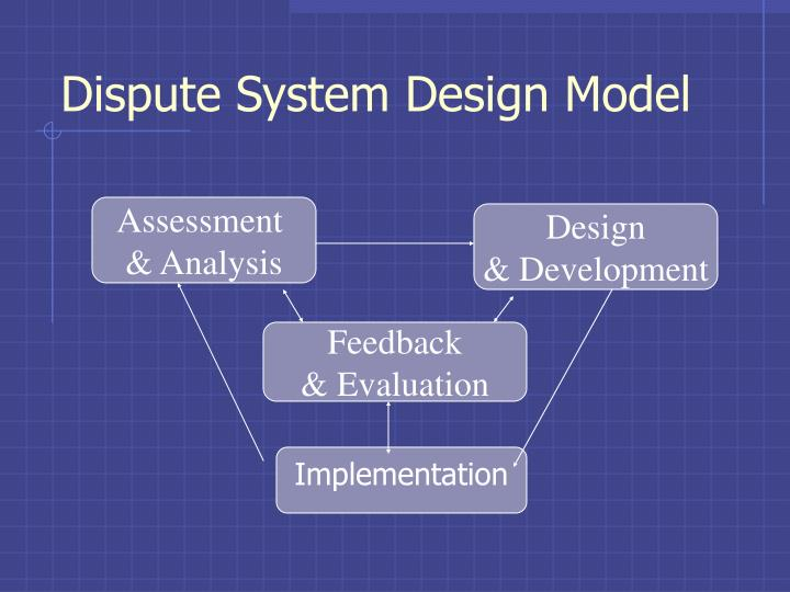 Dispute System Design Model