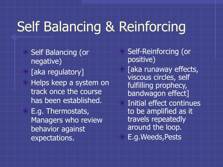 Self Balancing (or negative)